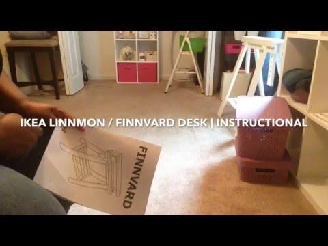 Ikea finnvard desk instructional youtube