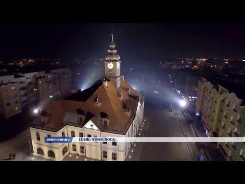 LUBIN. Rynek nocą