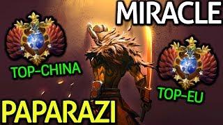 Miracle- Juggernaut Top 1 MMR EU VS Paparazi Juggernaut Top 1 MMR China Dota 2