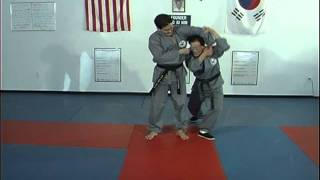 Hapkido Behind Sholder Grab Techniques 1 thru 4, Ji Han Jae
