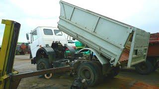 86,87-Д.Ремонт МАЗ-5551.Демонтаж КПП и сцепление.Ремонт комбайнов.