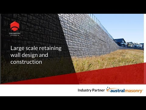 Large Scale Retaining Wall Design & Construction