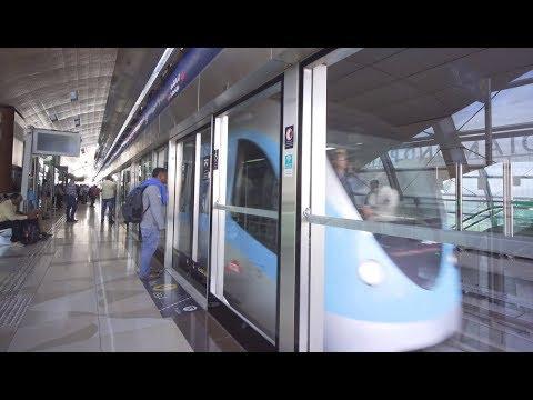 United Arab Emirates, Dubai, metro ride from First Abu Dhabi Bank to Noor Bank