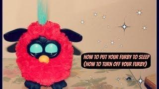 How To Make Furby Go To Sleep (How To Turn OFF Furby)