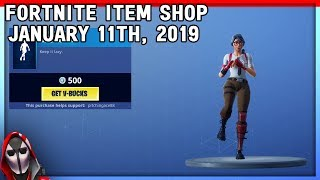 *NEW* Lazy Shuffle Emote! Red nosed Raider Returns! January 11th New Skins || Daily Fortnite