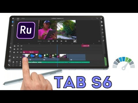 Samsung Galaxy Tab S6 - Video Editing Test with Adobe Rush (Android)