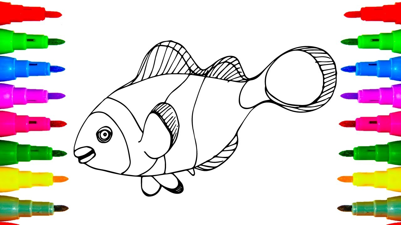 Coloring Nemo (Clown) Fish for Children | Coloring Pages ...