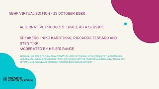 ALTERNATIVE PRODUCTS: Space As a Service with Niko Karstikko, Riccardo Tessaro and Sten Tikk