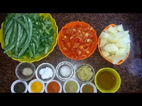 Sem Aloo Ki Sabji, आलू सेम की फली की सब्जी, सेम की सब्जी, Potato And Beans Recipe