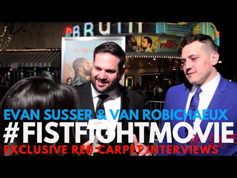Screenwriters Evan Susser & Van Robichaux interviewed at LA Premiere of Fist Fight Movie