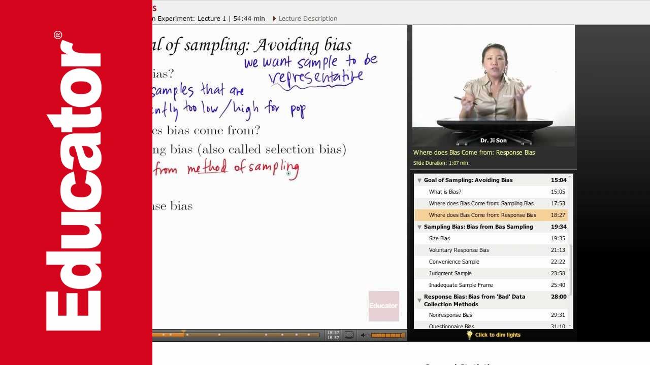 Statistics: Sample Response Bias - YouTube