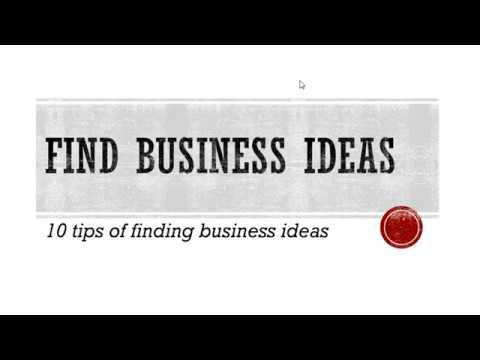 10 Ways of Finding business ideas