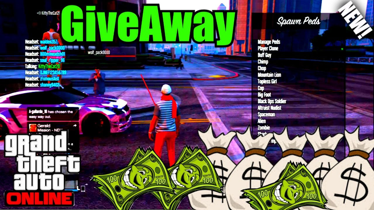 How To Get A Free Gta  Modded Account For Xbox One Ps Giveaway Youtube