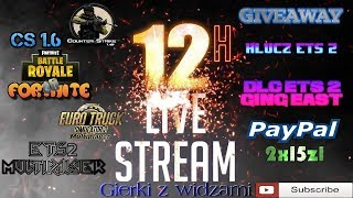???? #12H STREAM #CS 1.6 #Fortnite #ETS 2 GIERKI Z WIDZAMI #NAŻYWO #dYnkSxMonster !sponsoruj ???? - Na żywo