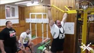 Pull Ups face off - 180kg Sarychev vs 165kg Koklyaev vs Malanichev - True Gym 11