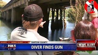 I made the news again recovering a stolen gun scuba diving