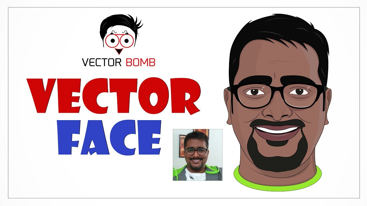 How To Draw Flat Vector Face In Adobe Illustrator Cc 2017  Design A Flat  Avatar