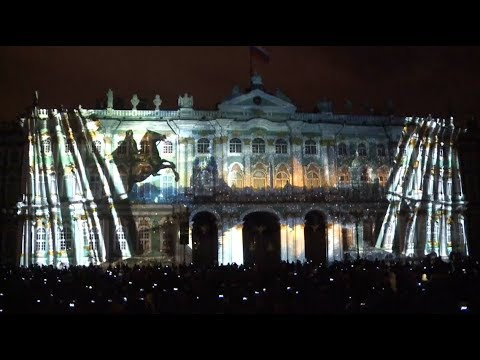 Spectacular 3d light show staged in st petersburg
