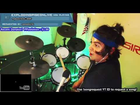 Pegboard Nerds - BAMF (NEW 2016) | BLIND DRUM COVER LIVE ON TWITCH
