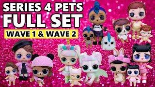 LOL Surprise Series 4 Pets FULL SET FAMILIES | L.O.L. Eye Spy Pets Wave 1 + 2 Family Reunions