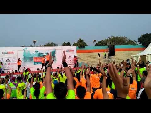 Idbi new delhi marathon dance workout 25 February 2018