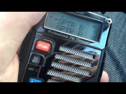 TEST ecoute radio sur radio UHF VHF dual monitoring UV-5R