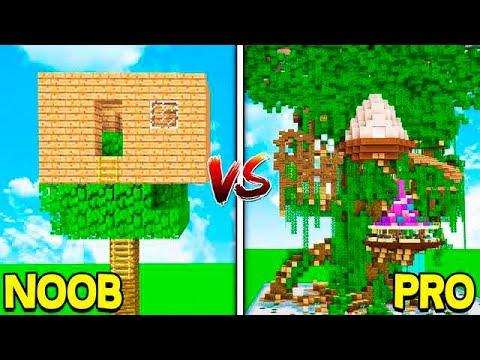 MINECRAFT  NOOB VS PRO: TREE HOUSES!
