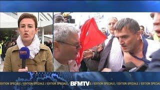 Air France: les chemises de dirigeants arrachées par des manifestants