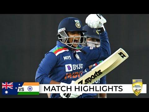 India end Aussies' world-record ODI streak in thriller | Third ODI | Australia v India 2021
