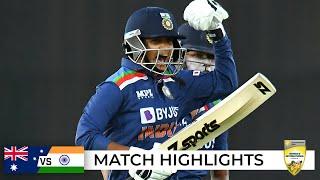 Download India end Aussies' world-record ODI streak in thriller   Third ODI   Australia v India 2021