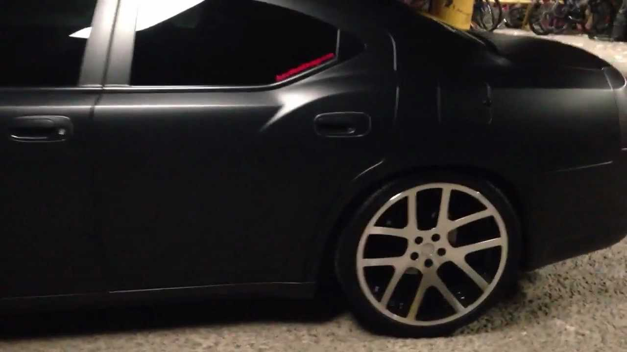 Matte Black Dodge Charger 22 Inch Viper Replicas Dual
