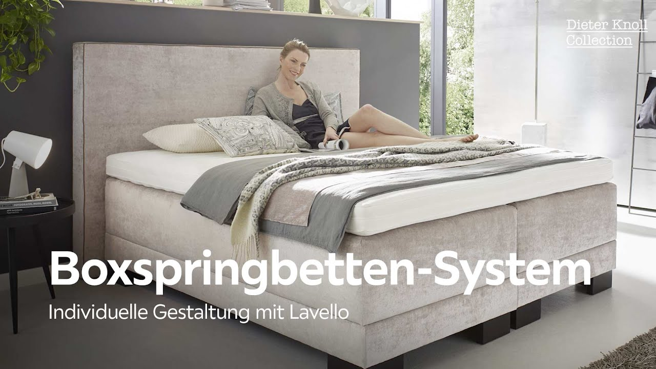 boxspringbett system lavello dieter knoll collection bei xxxlutz youtube. Black Bedroom Furniture Sets. Home Design Ideas