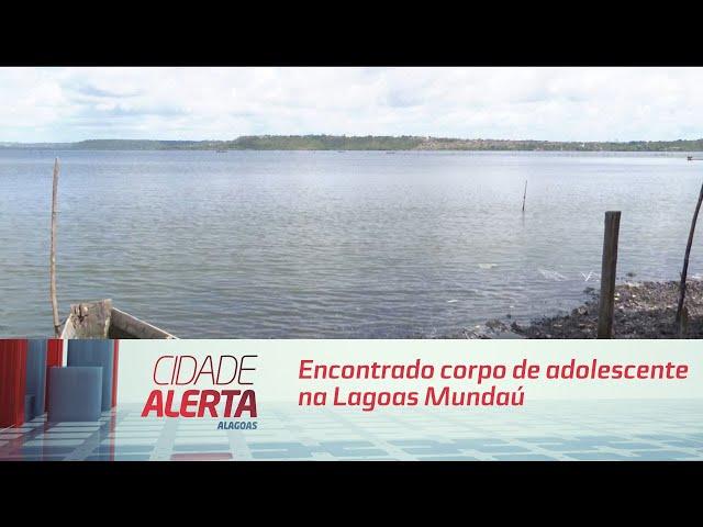 Encontrado corpo de adolescente que desapareceu após embarcação virar na Lagoa Mundaú
