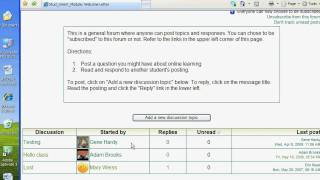 Posting to Moodle Forums (for students) thumbnail