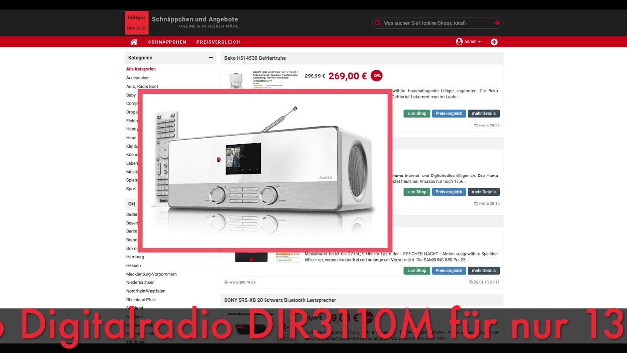 Digitalradio Küche | Schnappchen Billiger Des Tages 27 04 18 Hama Internetradio