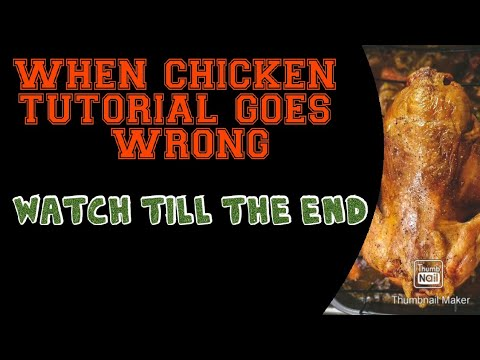 How to make chicken | diet for gym | TuTorial GoEs wrOng | funny video thumbnail