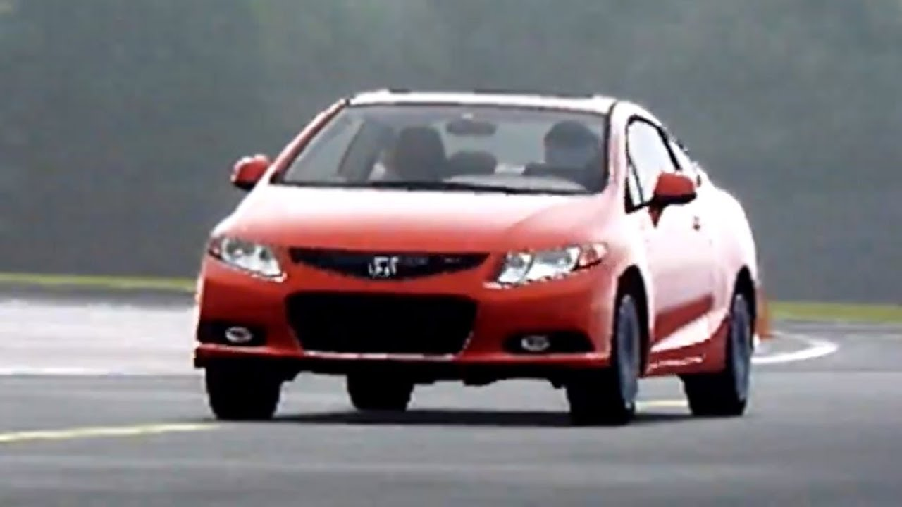 2012 Honda Civic Si around Top Gear test Track  YouTube