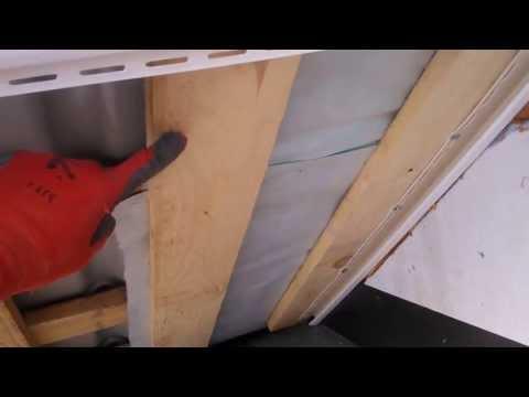 Монтаж софита на подшиву / Mounting batten for hemming