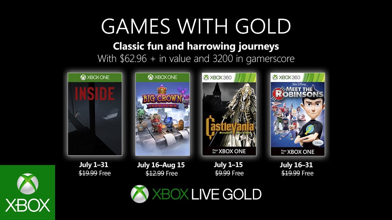 Xbox July 2019 Games With Gold Youtube