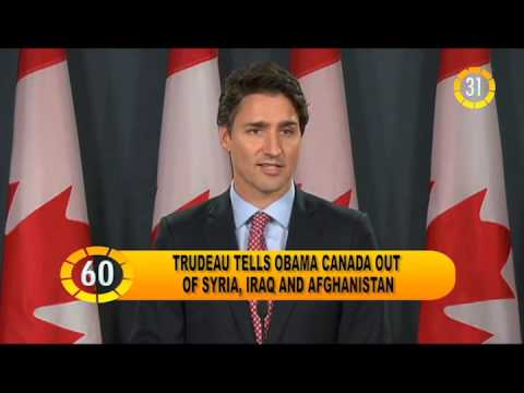In 60 seconds: Trudeau tells Obama Canada out of Syria, Iraq and Afghanista