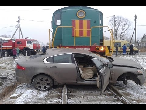 Катастрофы на железнодорожных переездах Тематические подборки дтп