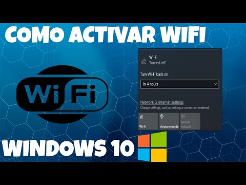 Como Habilitar Wifi En Windows 10 | Como Activar El Adaptador WIFI