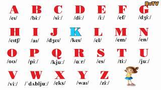 Bảng chữ cái abc tiếng Anh và phiên âm   English BoTV
