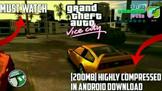 [200mb] How to download GTA vice city highly compressed in android