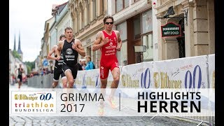 1. Bitburger 0,0% Triathlon-Bundesliga Grimma 2017 - Highlights Herren