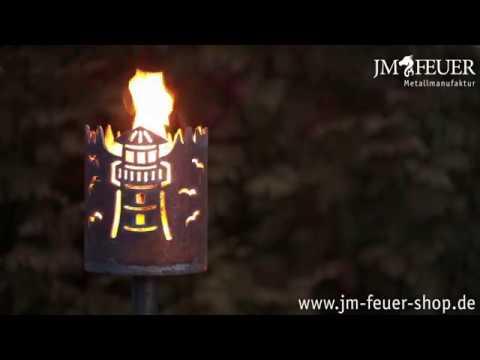 Jm Feuer Shop kleine gartenfackel leuchtturm aus metall