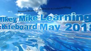 Kiteboarding with wipeout at Belmont Shore Kite Beach Learning in Long Beach Cabrinha Contra