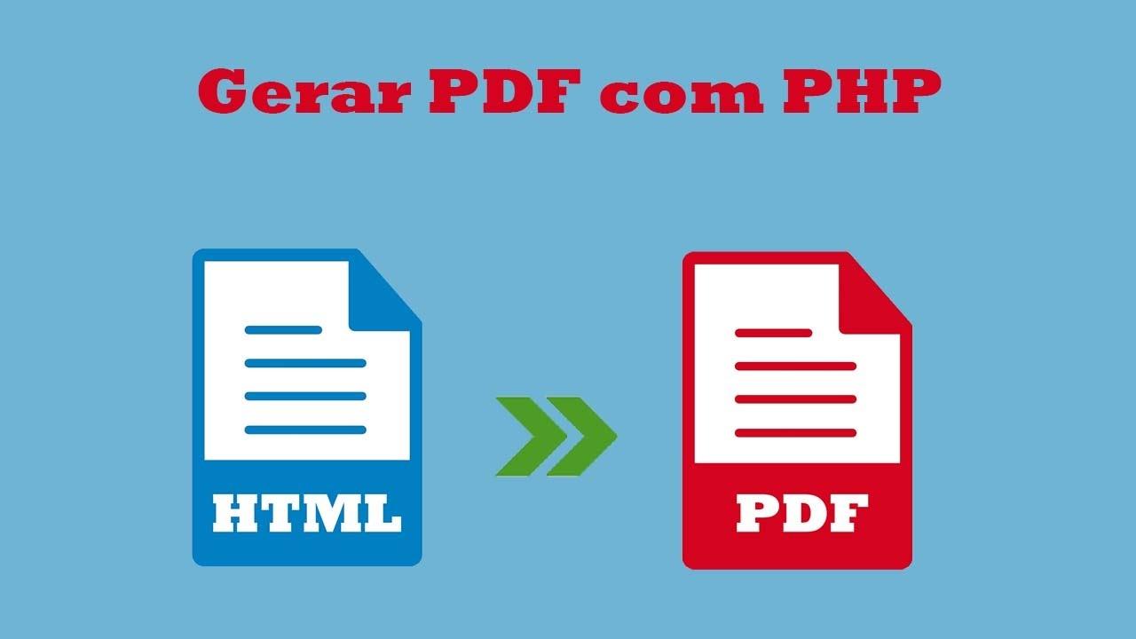 Como gerar PDF com PHP utilizando o dompdf