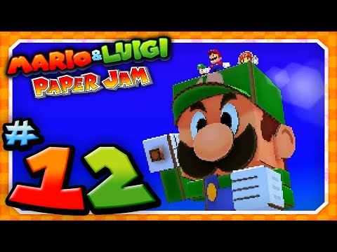 Papercraft Mario and Luigi: Paper Jam - Part 12: Papercraft Luigi vs Papercraft Kamek!