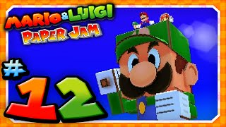 Mario and Luigi: Paper Jam - Part 12: Papercraft Luigi vs Papercraft Kamek!
